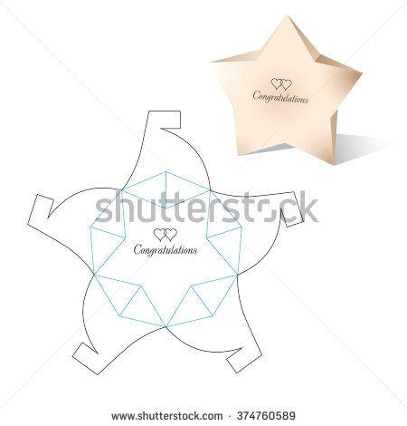 Die Cutting Vectores en stock y Arte vectorial | Shutterstock Empaque con forma de estrella