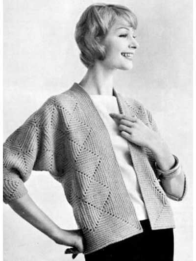 Crocheted Cardigan~~My sister used to make this sweater all the time, always looked great on our Mother.