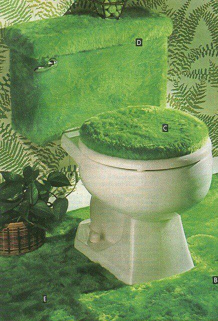 ATOMIC CHRONOSCAPH — mangodebango:   Green fur bathroom from an...
