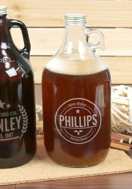 Gift Trend: Personalized Beer Growler. Now printable with LogoJET's extended capacity UV Printer, the UVx60.