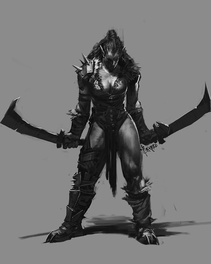 Female orc warrior can