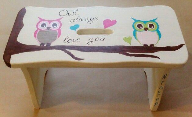 Kids handmade wooden stool,  by Ntourel