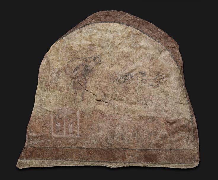 Battistero. Dura Europos (Siria), III secolo (240-245). Fresco a secco. Buon Pastore. New Haven, Yale University Art Gallery