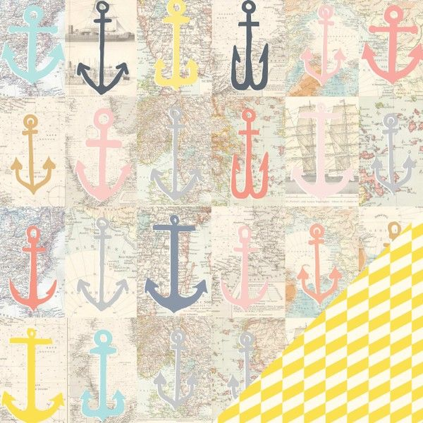 Portsmouth 12X12 Atlantic Paper by Studio Calico - Two Peas in a Bucket