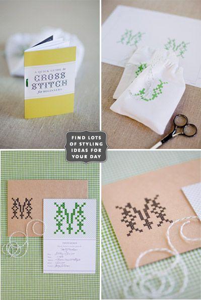 Cross stitch stationary