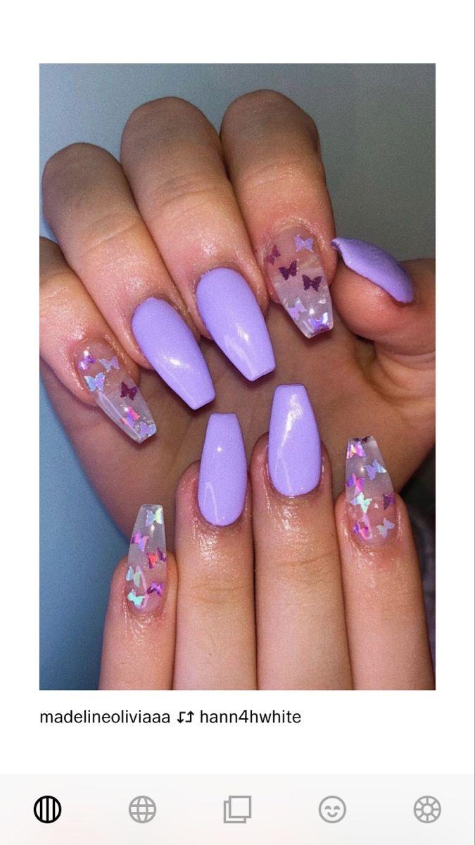 Purple Nails Purple Nail Designs Purple Acrylic Nails Short Acrylic Nails Designs