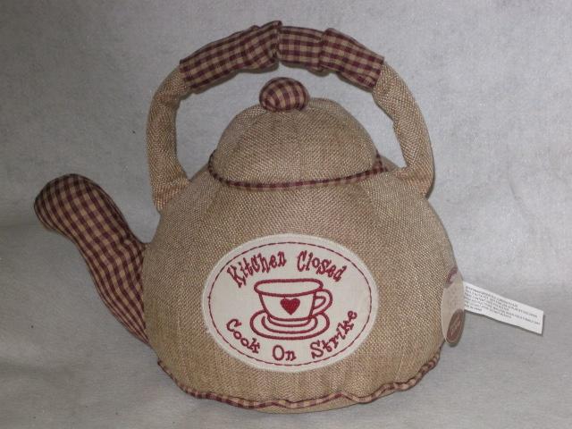 Fabric Teapot Doorstop