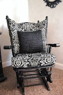 Refinished Rocking Chair Glider-Master Bedroom | A Vision to Remember All Things Handmade Blog