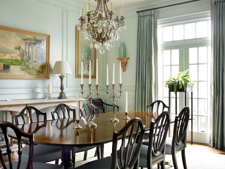 Dining room paint color palladian blue by benjamin moore - Benjamin moore palladian blue living room ...