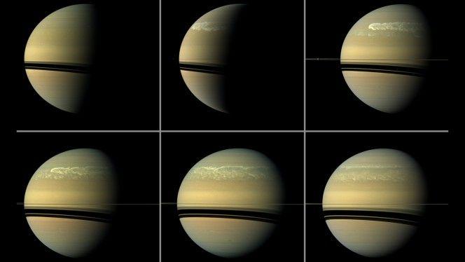 Saturno: è diluvio universale - In 140 anni di osservazioni telescopiche, tempeste record, veri e propri diluvi da Antico Testamento, sono scoppiate sulla superficie del Signore degli anelli: sei eventi eccezionali, uno ogni 30 anni, testimonianza dell'abbondanza di acqua sul pianeta e di un ciclo naturale che si resetta con puntualità svizzera. L'ipotesi che si fa strada è che il vapore acqueo, più pesante di idrogeno ed elio che abbondano nel cielo di Saturno, resti per lunghi periodi…