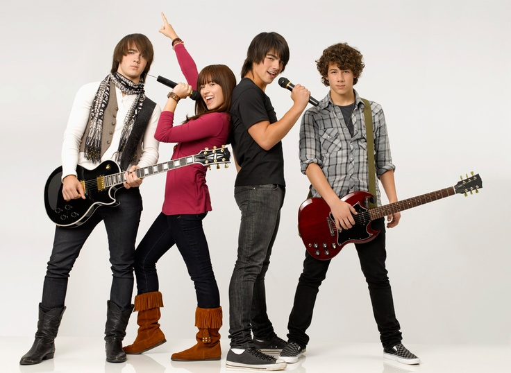 Mitchie, Shane, Jason et Nate (Camp Rock) #camp  #rock #disneychannel