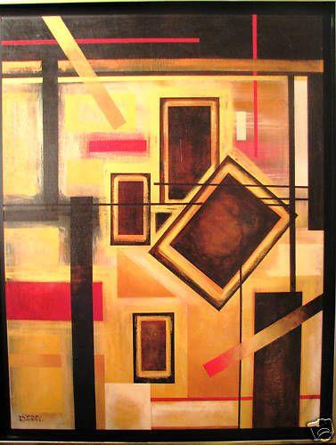 Australian Artist Gayle Russell s  original acrylic abstract  Puzzler