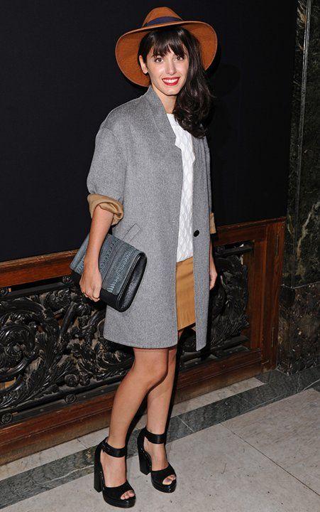 Katie Melua to #LFW with Naledi Copenhagen NB18 ostrich bag