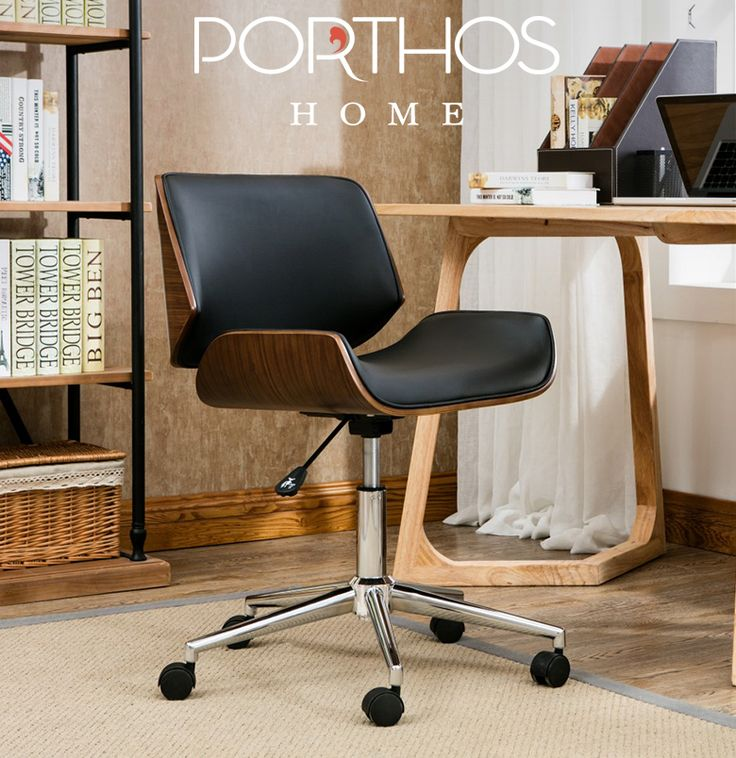 Experience Comfort and Luxury with the Porthos Home Dove Office Chair!  #Midcentury #office #chair #workspace