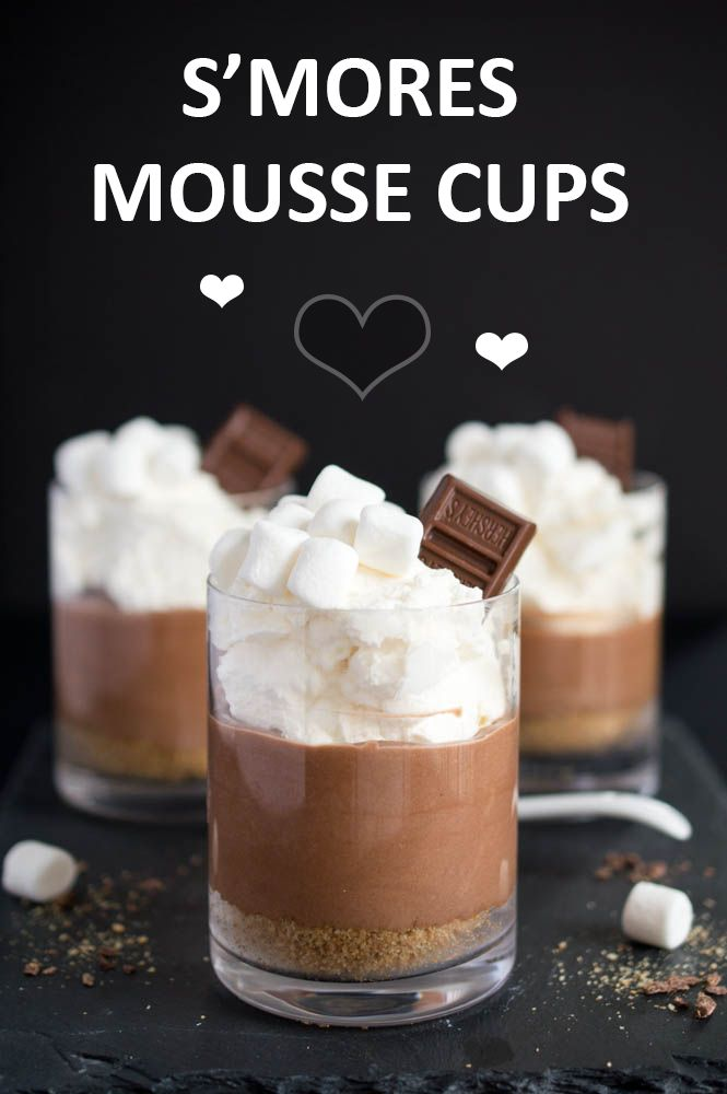 S'mores mousse layered with graham cracker crust, chocolate mousse and marshmallow whipped cream. A decadent and easy single serve dessert. | chefsavvy.com #recipe #dessert #chocolate