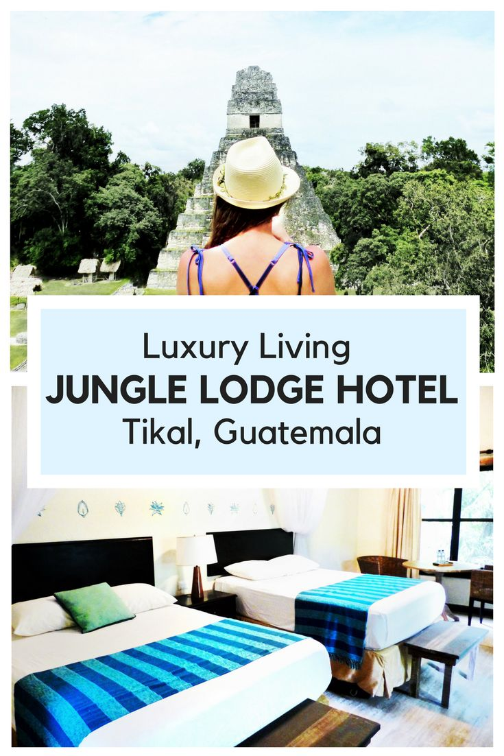 The Tikal ruins in Guatemala are the largest UNESCO site in the America's both natural and archeological! If you have a love of exploring ruins like me, then staying on the actual site of Tikal at the Jungle Lodge Hotel is an out of this world experience. Talk about perfect access