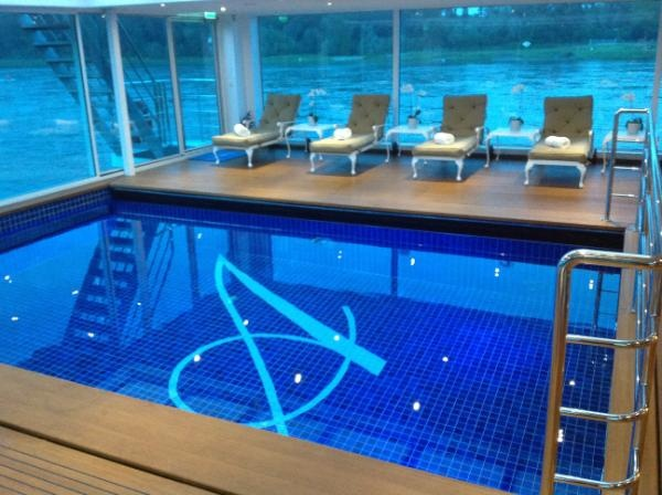 Summer is here! Beautiful indoor pool on the SS Antoinette #uniworldcruises #luxury