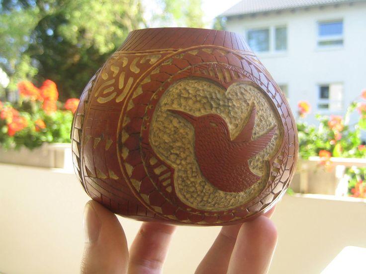 Rzeźbiona tykwa do Yerba Mate  #yerbamate #tykwa #tykwy #gourds #handmade #mateart #robertprzydatek
