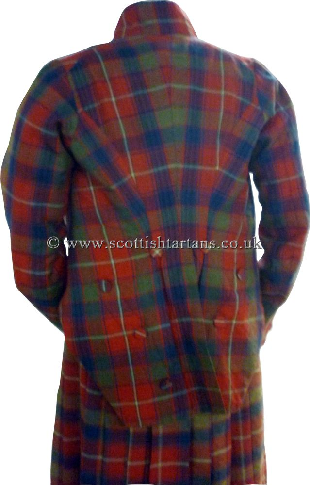 A Highland Revival outfit c1830 in Robertson tartan woven by Wilsons of Bannockburn.
