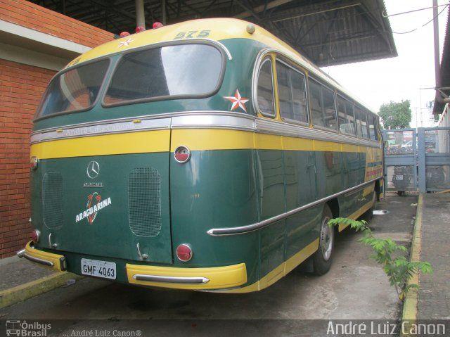 Ônibus da empresa Viação Araguarina, carro 575, carroceria Mercedes-Benz Monobloco O-321, chassi Mercedes-Benz O-321. Foto na cidade de Goiânia-GO por André Luiz Canon, publicada em 01/09/2017 13:39:01.