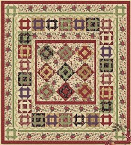 Miniatura-Da-Casa-De-Boneca-tecido-impresso-Computador-Quilt-Patchwork-Quilt-Top-Vermelho-Marrom