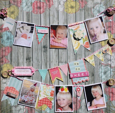 Love the banners on the scrapbook layout