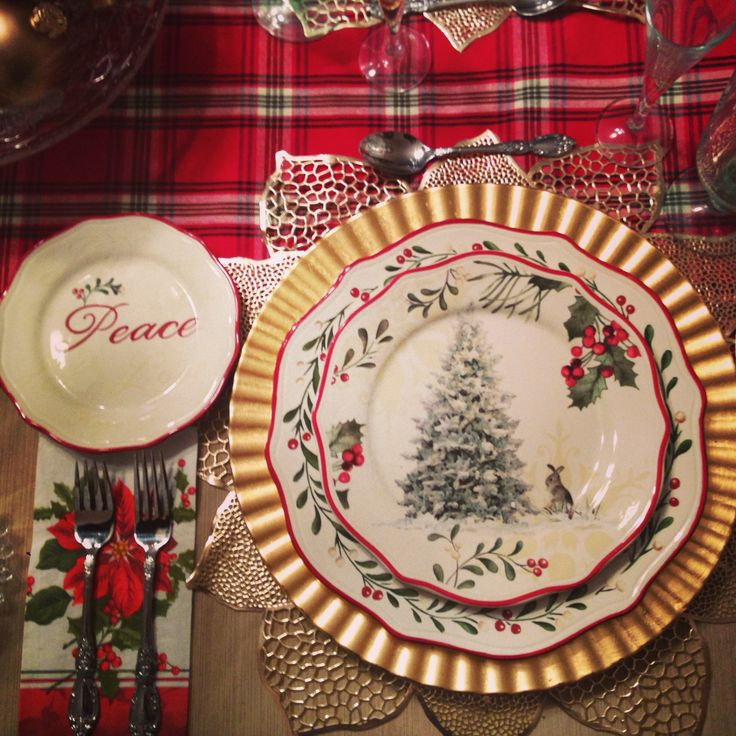 12 Best My Christmas 2013 Table Setting Images On