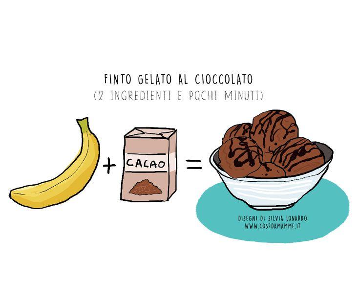 gelato cioccolato e banana congelata