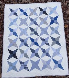 Last week I showed you the dinosaur quilt that I made for Baby E, today I am showing you the shirting quilt I made for him. I used cast off shirts from his daddy, papa, and uncle in this quilt. I ...