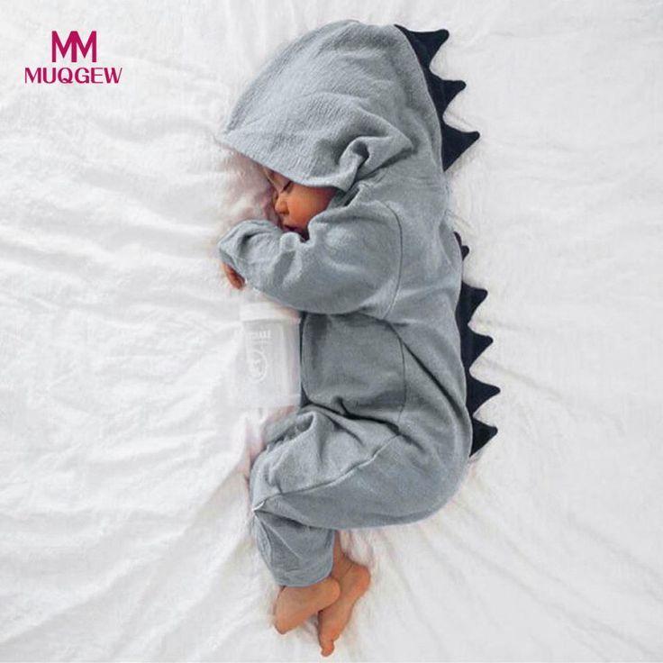 MUQGEW Neugeborenen Jungen Mädchen Dinosaurier Mit Kapuze Strampler Overall Outfits …   – Cloris Grillen