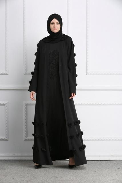 Muslim Flower Full Dresses Abaya Cardigan Kimono Long Robe Gowns Tunic – US  MART NEW YORK 7e222733f7a