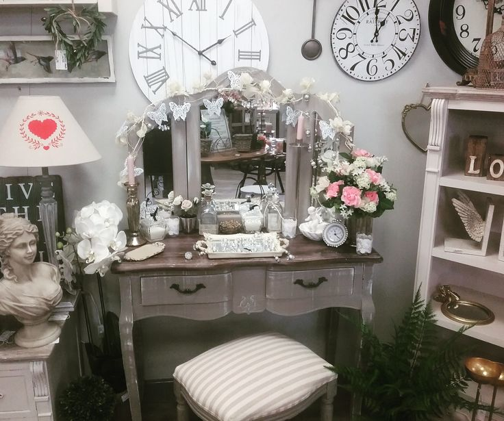 Our French Grey dressing table with accessories
