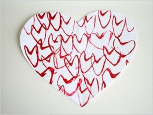 Love is in the Air with Paper Tube Heart Stamps