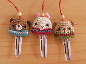 Cute key cozy's.. no pattern but idea is cute