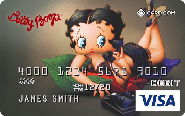 The Betty Boop Themed CARD.com Prepaid Visa® Card