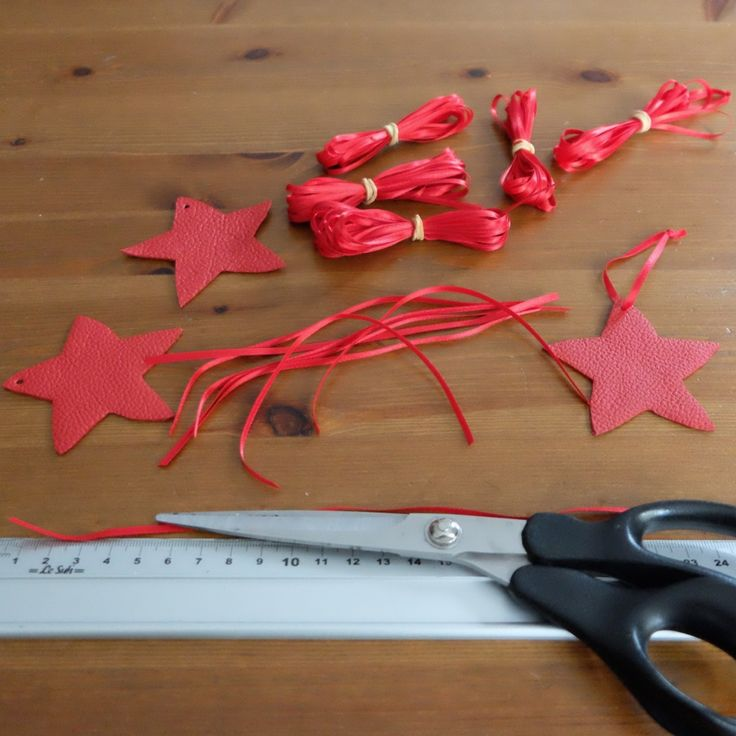 Christmas ornaments in the making. Add some leather to your Christmas tree this year.