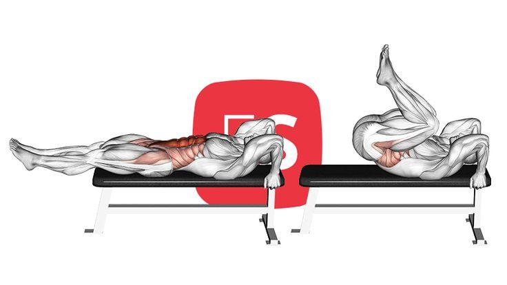 Ξαπλωτή άρση-συσπείρωση ποδιών