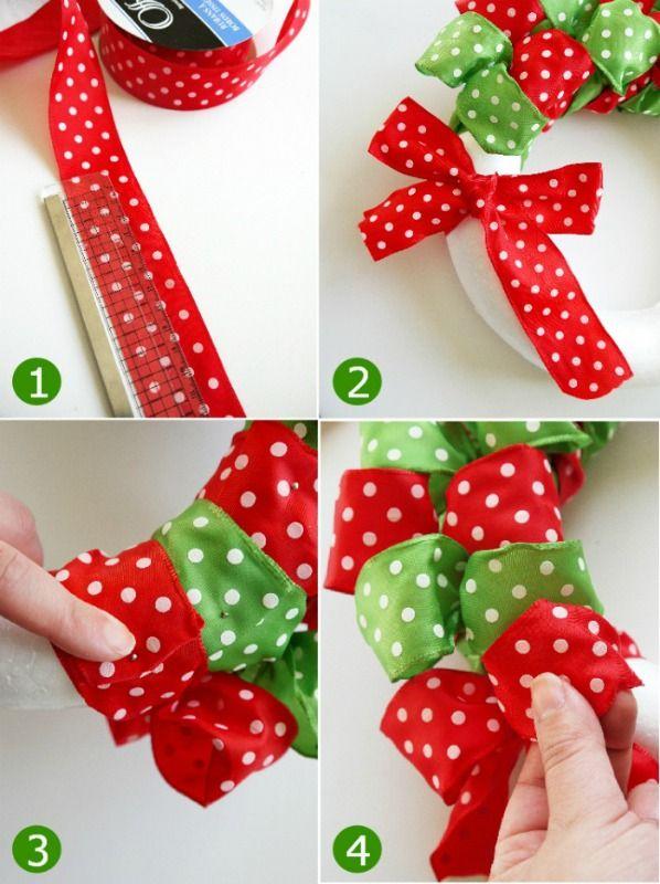 17 Best Ideas About Ribbon Wreath Tutorial On Pinterest