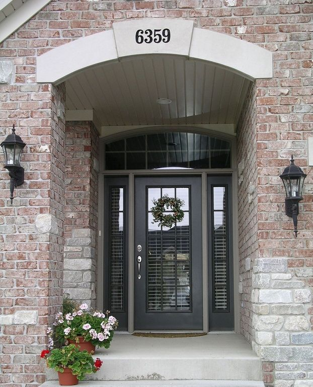 Traditional front door with cyberspace paint from sherwin for Amazing front doors