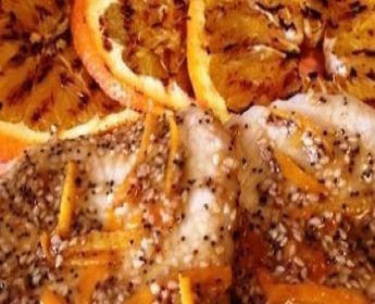 La lonza di maiale con arance