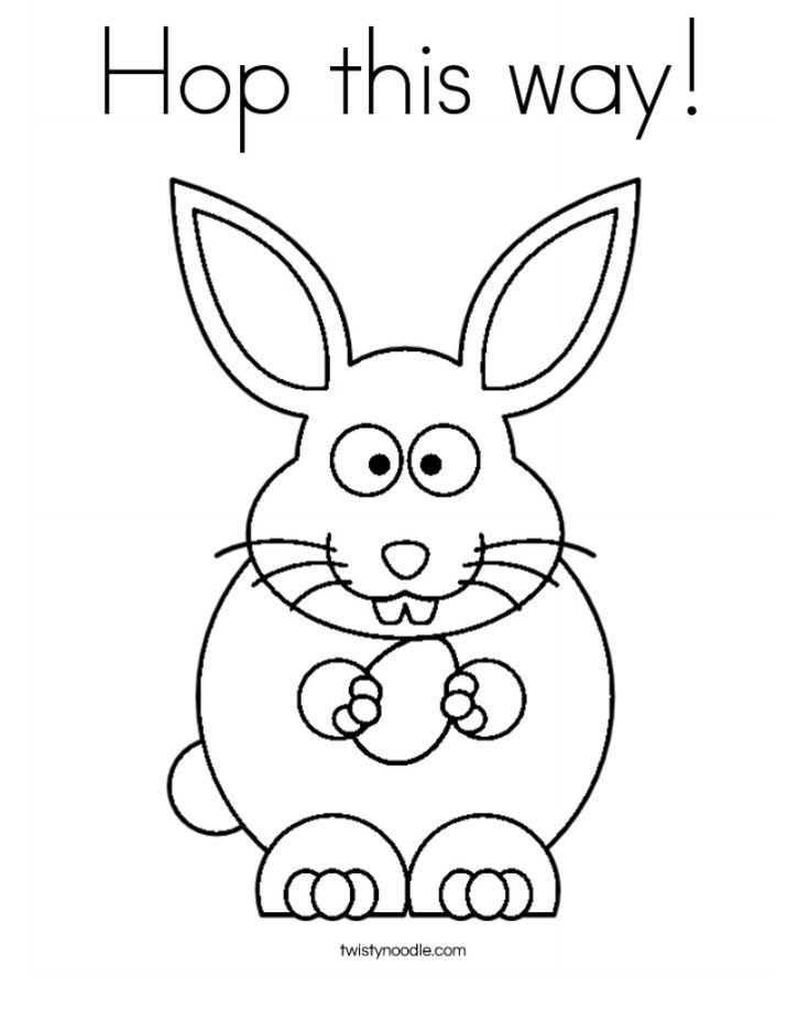 Free Colouring Pages Rabbits Easter Bunny Coloring Family
