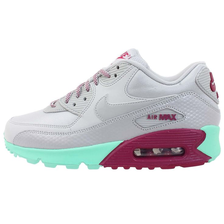 Nike Women's Wmns Air Max 90, DSTY GREY/DSTY GREY-GREEN GLOW-