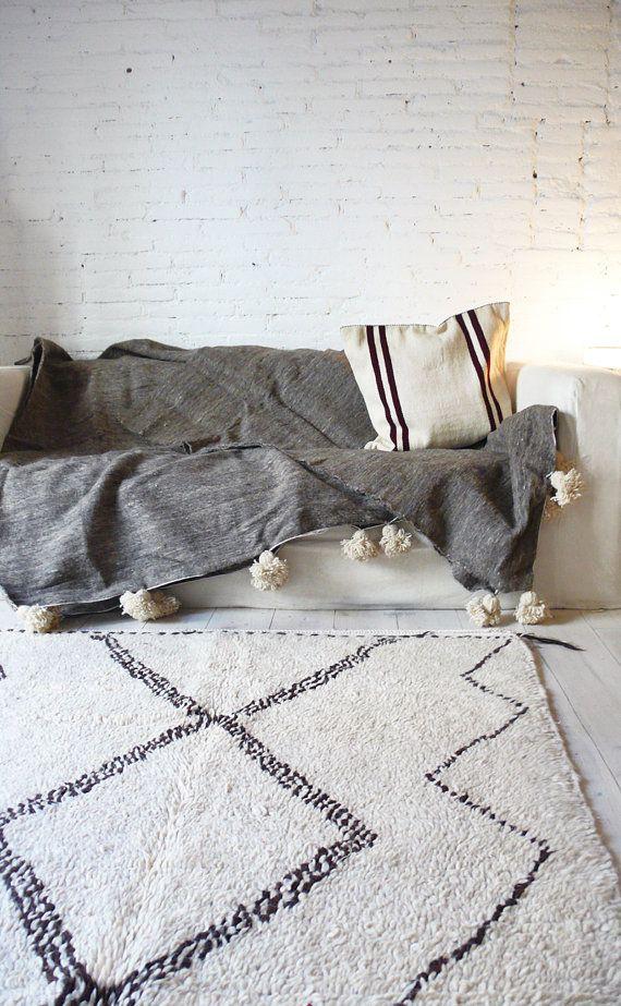 Vintage marocain tapis laine vierge AZILAL RUG par lacasadecoto