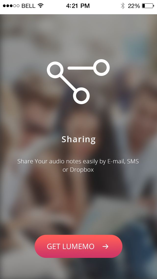 Amazing, the problem with sharing your memos is solved. With Lumemo voice recorder, you can make it in so many ways!