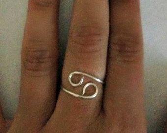 Zodiac Sign Ring by CaseysWireOwlet on Etsy