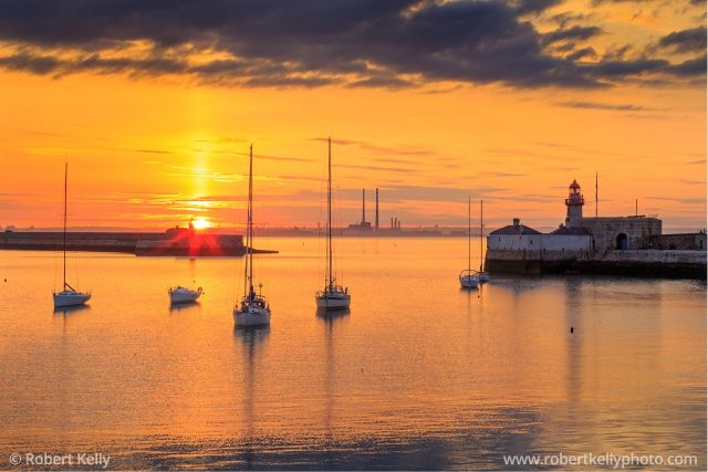 Dún Laoghaire Harbour and Dublin Bay, Ireland | Fine Art Print