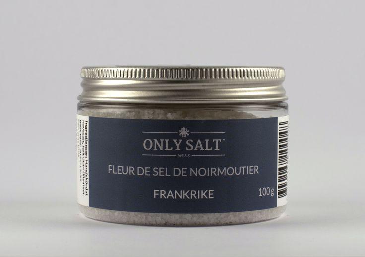FLEUR DE SEL DE NOIRMOUTIER HAVSSALT från Frankrike.  Mineralrikt med en touch av alger i smaken.
