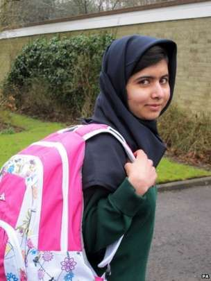 Malala on first day at school