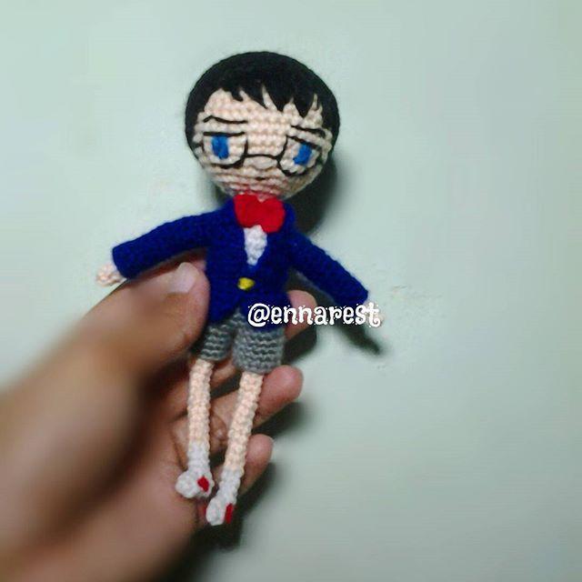 Conan Edogawa  #detectiveconan #caseclosed #conan #conanedogawa #anime #edogawaconan #amigurumi #crochet #bonekarajut #handmade #rajut #cartoon #kartun