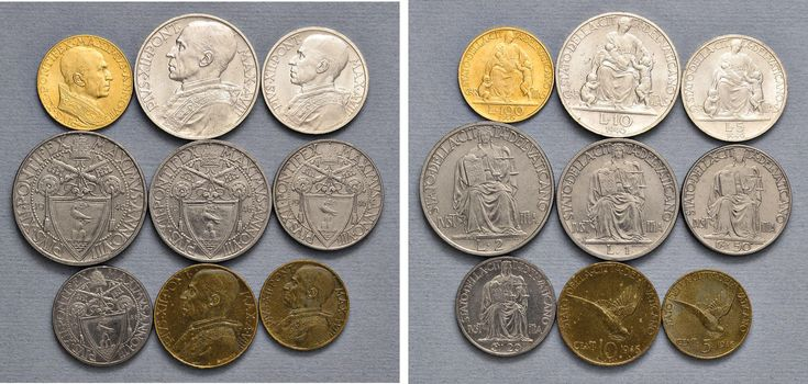 NumisBids: Nomisma Spa Auction 50, Lot 315 : Pio XII (1939-1958) Divisionale 1946 A. VIII – 100, 10, 5, 2 e una...